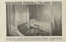 W0932 N.G.I. Transatlantico COLOMBO Camera da letto di 1° classe_Pubblicità 1925