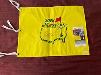 2018 Masters Golf Flag Patrick Reed JSA COA Signed Autographed
