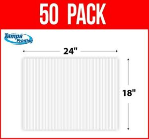 """50 pack WHITE BLANK 18"""" x 24"""" Plastic Corrugated 4mm Political Yard Signs Coro"""