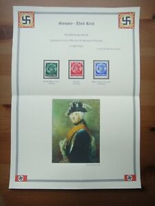 Germany Nazi 1933 STAMPS Used Frederick the Great Third Reich Deutschland German