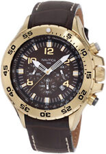 Nautica Men's Brown and Gold Chronograph Watch N18522G