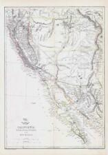 More details for 1863 large antique map california lower utah new mexico by edward weller (da203)