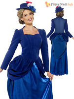 Ladies Deluxe Victorian Lady Nanny Fancy Dress Costume Adult Book Week Day