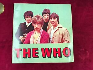 1968 Program Sellout Tour THE WHO Pete Townsend with 2 Rejection Letters (SC1)
