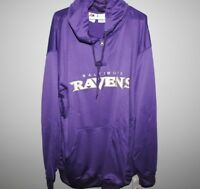 NFL Baltimore Ravens 1/4 Zip Hooded Big & Tall New Mens Sizes MSRP $60