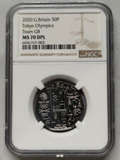 UK 2020 GREAT BRITAIN 50P NGC MS70 DPL TOKYO OLYMPICS TEAM GB