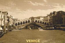 Postcard Grand Canal Rialto Bridge VENICE ITALY 2010 Sepia Post Card