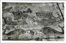Italia, Ostia, Mosaico di una Corporazione  Vintage silver print. Italy.  Tira