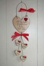 PERSONALISED Wooden Plaque HEART Wood HOME HOT TUB BEAUTIFUL