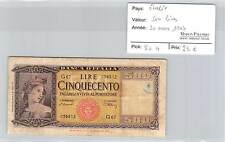 BILLET ITALIE - 500 LIRES - 20-3-1947