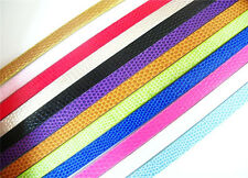 10pcs Serpentine  mixed color 1M length PU Leather Belt Fit 8mm Slide Charm