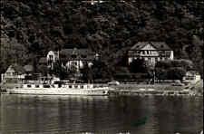Brodenbach 1964 Posthotel Hotel Fluß Mosel Schiff Boot Häuser Landschaft Bäume