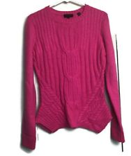 Ted Baker London Womens Cable Knit Crew Neck Sweater Hot Pink Size 3 UK US 8