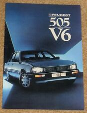 1986-87 PEUGEOT 505 V6 SALOON Sales Brochure