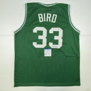 Autographed/Signed LARRY BIRD Boston Green Basketball Jersey PSA/DNA COA Auto