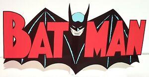 Desktop Display STANDEE : BATMAN Cartoon Comic Logo - Printed Reproduction Art