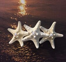 3 Knobby Starfish Hair Clip With Pearls In The Middle For Any Occasion