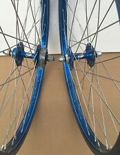 "NOS 1980s BMX Ukai Speedline 24""x2.125 HE rims & Sun Tour Old School Hubs Laced"