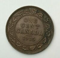 Dated : 1915 - Canada - One Cent - 1 Cent Coin - King George V