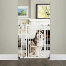 Carlson Extra Tall Walk Through Pet Gate with Small Pet Door, Includes 4-Inch