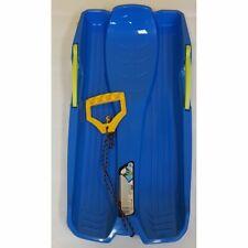 Kunststoff Kinder Bob mit Bremse blau super Rodel neu Winterspaß