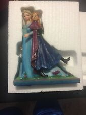 Frozen Disney Showcase Anna And Elsa Bust Set Nip Enesco 4042562 4042561