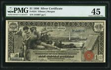 Unique! Fr 224 1896 $1 Silver Certificate 1 Silver Dollar EDUCATIONAL ACE!