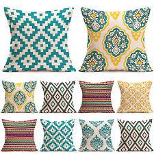 Geometric Pillow Case Cotton Linen Throw Cushion Cover Sofa Waist Home Decor