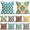 Vintage Geometric Pillow Case Cotton Linen Cushion Cover Sofa Pillowcase Decors