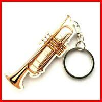 TROMPETTE PORTE CLE ! Instrument de Musique à Vent Cuivre Orchestre Jazz Trumpet