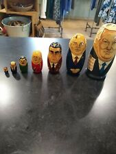 Russian Political Leaders Nesting Dolls 7 pieces