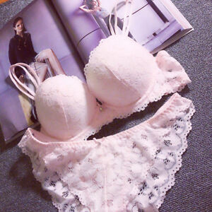Womens Sexy Lace Bra Set Push Up Embroidered Lace Bra and Panty Set Lingerie Lot