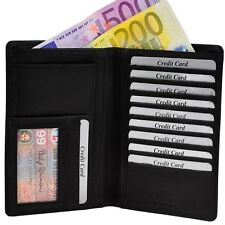 AMARI große Brieftasche Kreditkartenetui Portemonnaie Geldbörse Geldtasche Leder