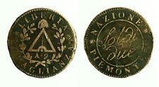 pcc1813_1) TORINO. REPUBBLICA SUB-ALPINA 1800-1802. 2 Soldi A° IX 1801
