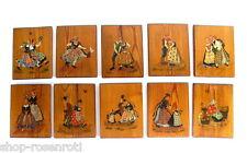 10 volkstümliche Gemälde auf Holztafeln - Bayrischer Lebenslauf - Trachten