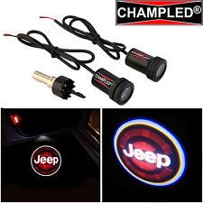 LED Projector Logo Emblem Symbol Sign Badge Under Door Step Light Car JEEP Red
