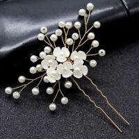 Bridal Pearl Flower Hairpin Hair Claip Wedding Hair Accessories Hair Jewelry  NT