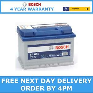 096 Bosch S4008 Heavy Duty Starter Battery 12V 74Ah 680CCA 4 Yr Warranty