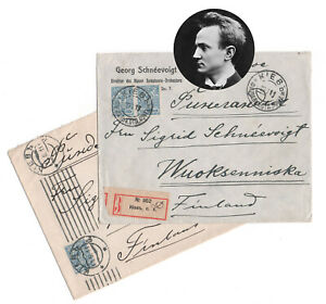 Georg Schneevoigt Finnish Conductor Cellist Russia 2 CoverS SIGNED Autograph