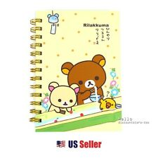 San-x Rilakkuma B6 Spiral Lined Notebook : Nagashi Somen (Flowing Noodle)