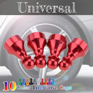 4Pcs Car Tire Tyre Red Wheel Air Port Dust Cover Ventil Valve Stem Caps Chess
