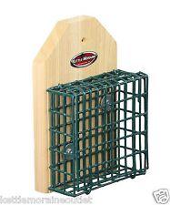 Kettle Moraine Screw On Pole or Tree Mount Single Suet Cage Bird Feeder