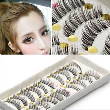 10 Pairs Handmade Soft Natural Thick Long False Fake Eyelashes Eye Lashes Makeup