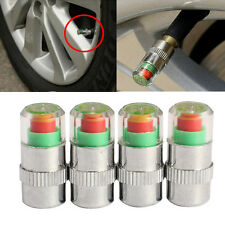 4Pcs Car Auto Tire Air Pressure Valve Stem Caps Sensor Indicator Alert Bike