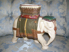SALE... Ornate Royal Worcester Hadley Elephant Spill Vase Dated 1873; As Found