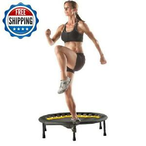 Exercise Jumping Round Trampoline Rebounder Safety Fitness Workout Gym Indoor