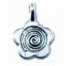 Packet 30 x Antique Silver Zinc Alloy Flower Glue On Bails 11 x 15mm Y09475