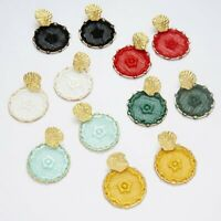 Geometric Round Circle Dreamcatcher Dangle Drop Earrings Women Wedding Jewellery