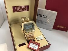 Seiko LC 0662-5009 Gold Plated Quartz LCD LED Watch