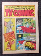 1977 April 23 Mighty Tv Comic Uk Weekly #1323 Fvf 7.0 Tom & Jerry
